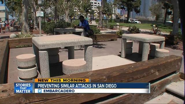 Anti-terror measures hiding in plain sight along boardwalk of Embarcadero
