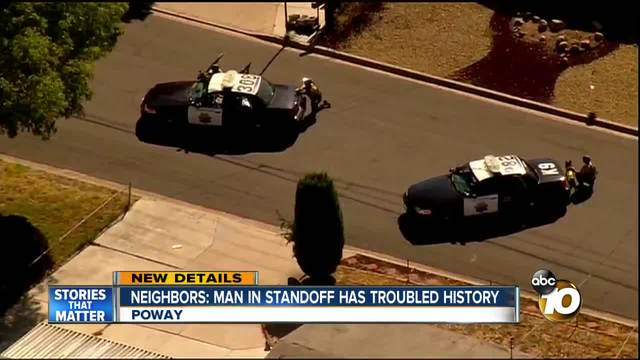 Neighbors- man in standoff has troubled history