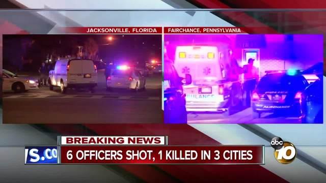 6 officers shot- 1 killed