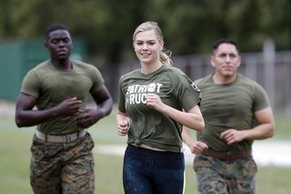 Sports Illustrated model Kate Upton trains...