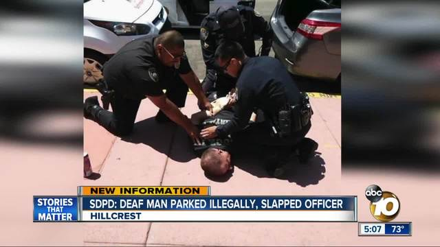 SDPD- Deaf man parked illegally- slapped officer