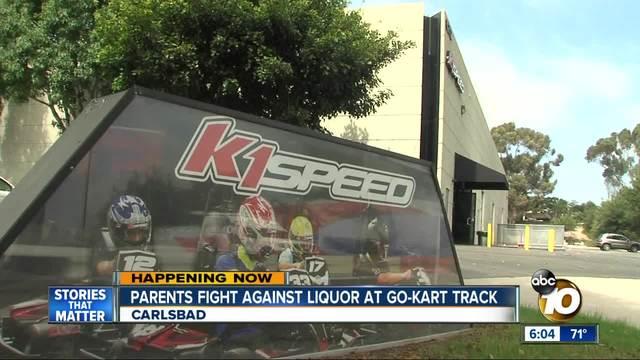 Parents fight against liquor at go-kart track