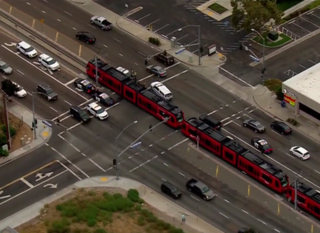 Sheriff's vehicle, MTS Trolley collide in Santee