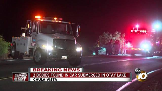 2 bodies found in auto in Lower Otay Lake