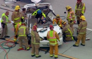 Drivers injured in SR-125 chain-reaction crash