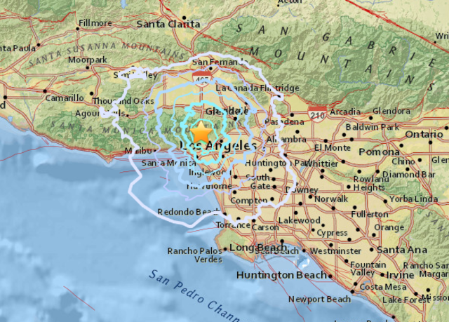 Small quake rattles nerves, causes no damage in Los Angeles
