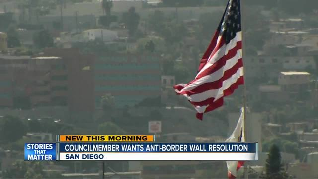 Councilmember takes stance against border wall