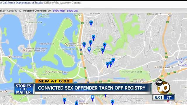 Convicted sex offender taken off registry