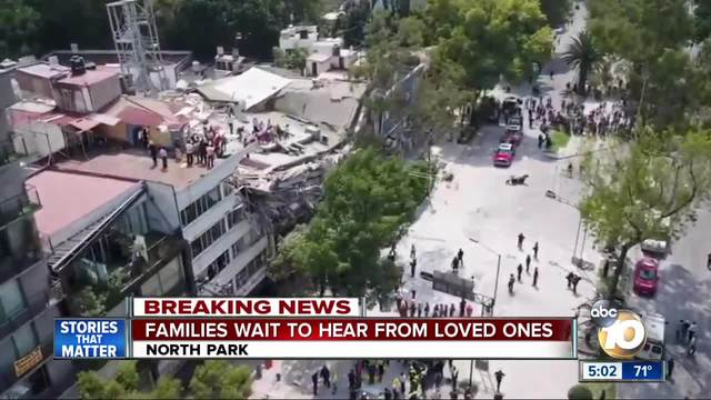 Local families worried about loved ones after Mexico quake