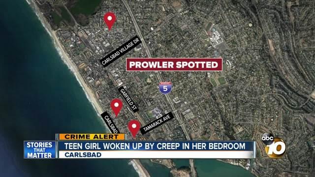 Teen woken up by prowler in her bedroom