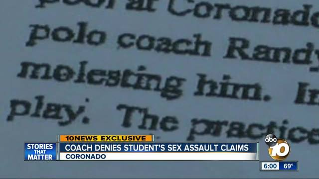 Coach denies Coronado student-s sex assault claims