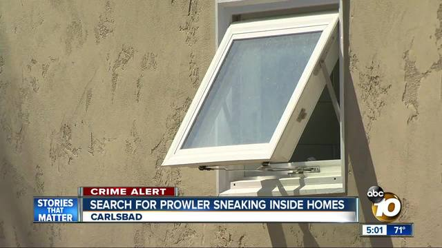 Search for North County prowler sneaking inside homes