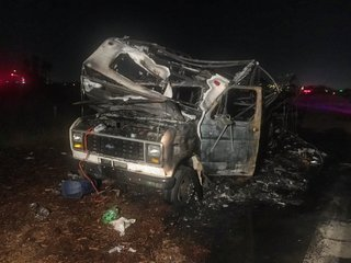 One burned after RV fire near Seaworld