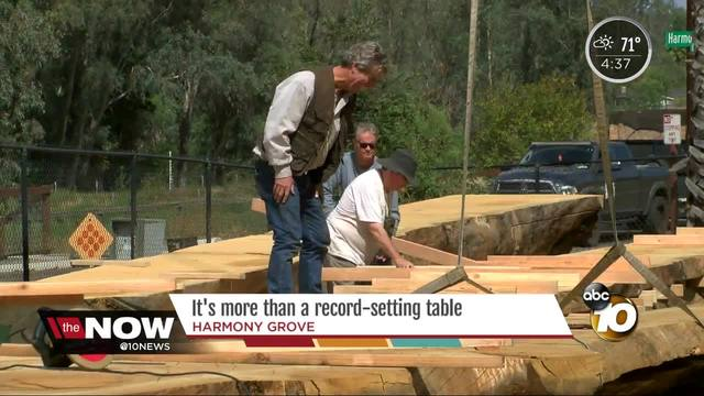 San Diego Torrey Pine gets new life as massive table