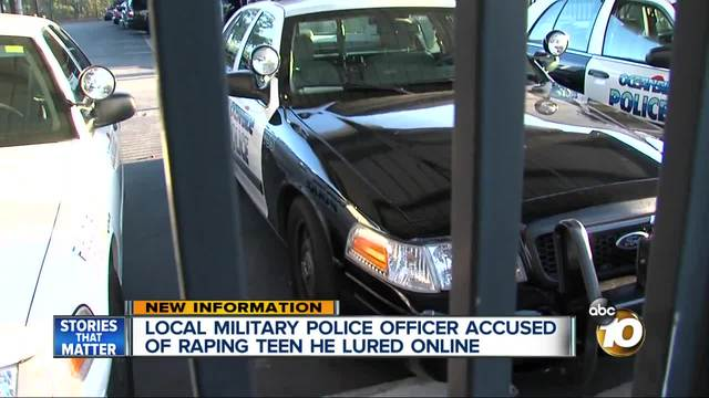 Military police officer accused of raping teen he lured online