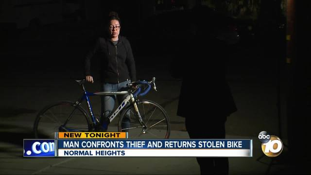 Man confronts thief and returns stolen bike