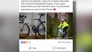 Stranger finds stolen bike, returns to owner