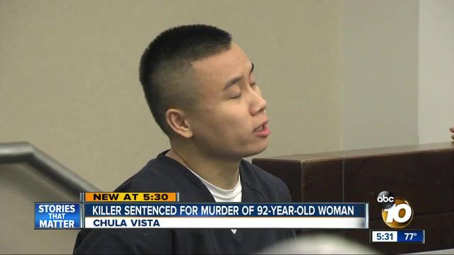 Killer sentenced for murder of 92-year-old woman
