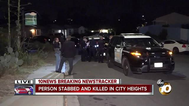 Person stabbed- killed in City Heights
