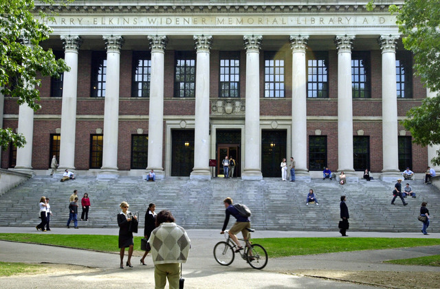 Wall Street Journal college ranking puts Harvard at the top