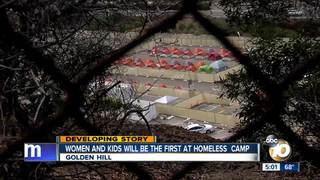 City Of San Diego Sets Up Temporary Camp For Homeless