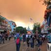 Skies above Disneyland fill with smoke