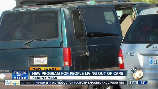 City announces plan to help homeless living in vehicles