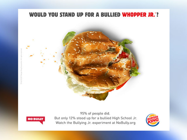 Burger King wallops Whoppers for anti-bullying social experiment