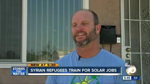 Syrian refugees train for jobs in San Diego solar industry