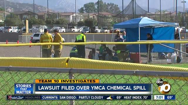 Lawsuit filed over YMCA chemical spill