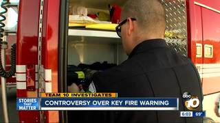 San Diego town rejects key fire warning