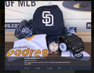 Padres, teams replace fan's gear lost in CA fire