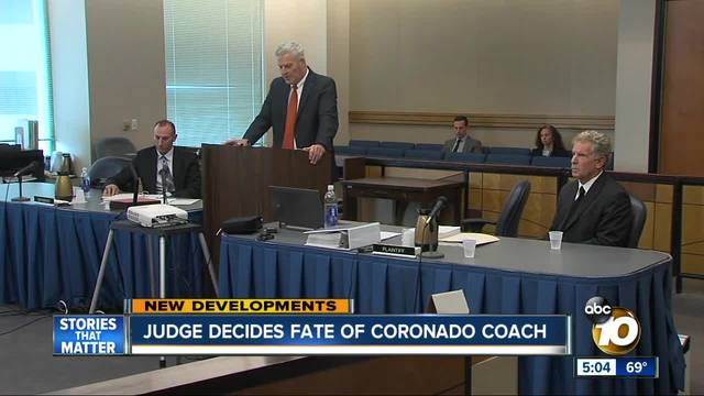 Judge decides fate of Coronado coach