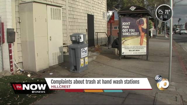Complaints about trash at wash stations