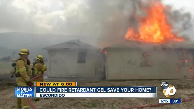Could fire retardant gel save your home-