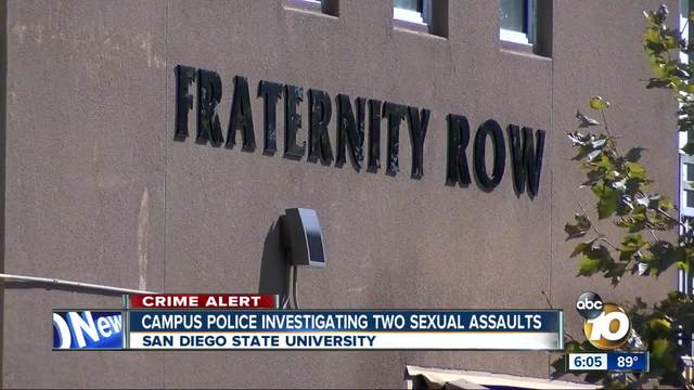 SDSU Campus Police investigating two sexual assaults