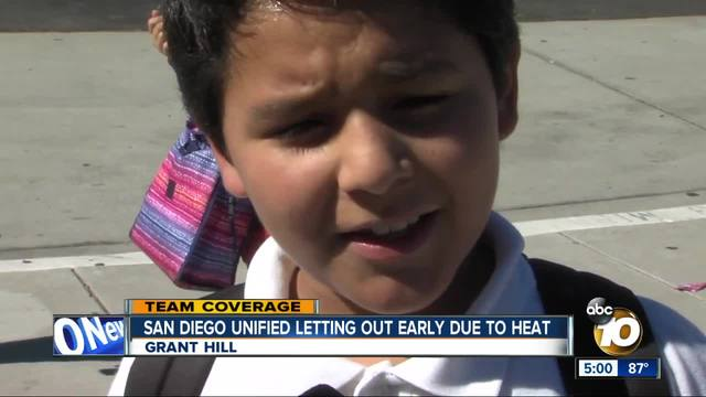 San Diego Unified Letting out early dute to heat