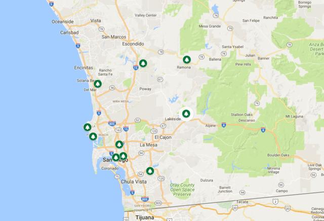 Christmas tree farms around San Diego