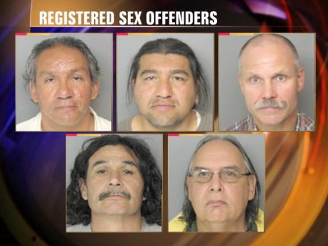 Listed sex offenders in my area