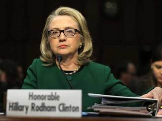 Hillary Rodham Clinton at congressional hearing-10933