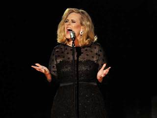Adele performing on stage-10933