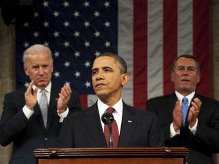 Obama delivering 2012 State of the Union-10933