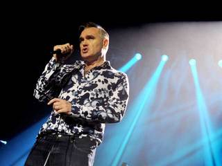 Morrissey attacked while performing on stage