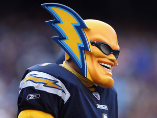 Bids surge for Chargers' 'Boltman' mascot