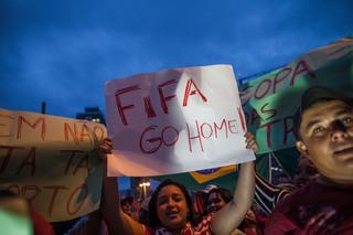 Protestan en contra de FIFA en Sao Paulo