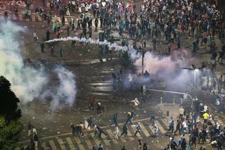 Causan destrozos por derrota de Argentina