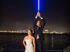 'Jedi' wedding photo goes viral, stuns couple
