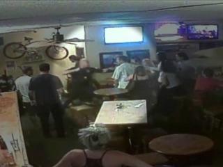 Calif. cop throws punch in bar brawl
