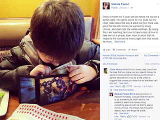 Boy, 6, takes mom on dates with allowance money