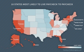 Living paycheck to paycheck? Calif. ranks #2